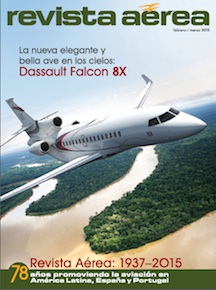 Revista Aerea - febrero/marzo 2015, Latin American Aviation magazine, Spanish Language Edition